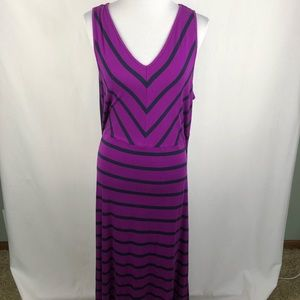 Lane Bryant 18/20 purple and navy stripe dress